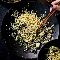 Late-Night Japanese Noodles // Cheap & Delicious Asian Noodle Recipes: http://www.foodandwine.com/slideshows/fast-asian-noodles-and-ramen-recipes #foodandwine