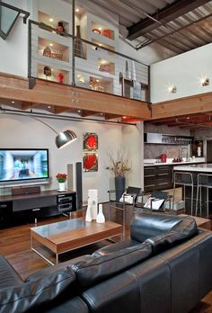 Delancey Street Warehouse Living Room  Kitchen