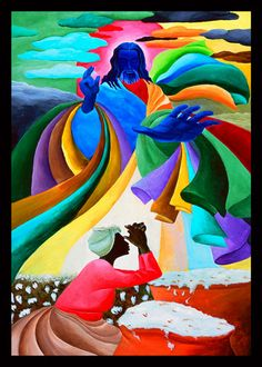 Field Of Prayers ~ Ivey Hayes ~ Oh, how I love his use of colors.