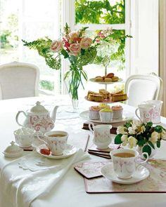 """Tea-time """"The hour […] can be anywhere between three and six o'clock in the afternoon."""