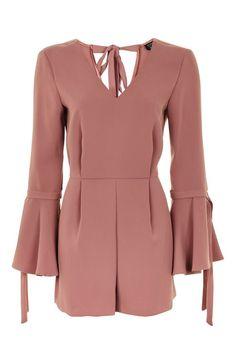 Combi-short avec manches à nouer - Combinaisons et Salopettes - Vêtements - Topshop