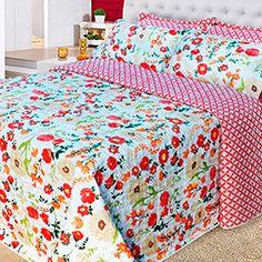 Colcha Queen Boutis Isabela com 2 Porta Travesseiros - Casa & Conforto