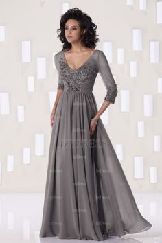 Sheath/Column V-neck Chiffon Mother of the Bride - IZIDRESSBUY.COM at IZIDRESSBUY.com