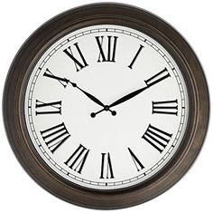 Rainey 24 12 Metal Wall Clock >>> You can find out more details at the link of the image.