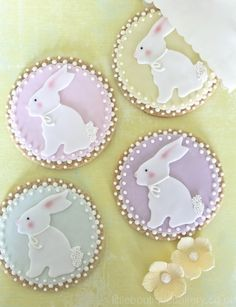 little boutique bakery - easter - easter cookies - bunny cookies