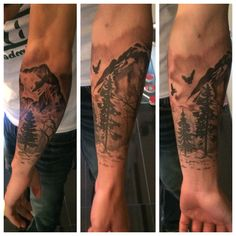 I like the idea of a landscape that wraps around my arm and opens up on my shoulder/back/chest