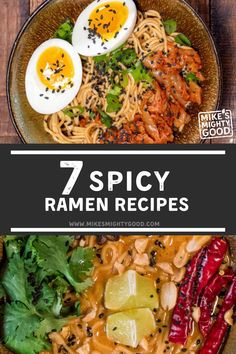 Spicy ramen is loved by many.  We've all probably seen the spicy ramen challenges going around on the Internet. Mike's Mighty Good has a variety of unique, tasty ramen flavors, and we definitely understand why people love our Spicy Beef and Spicy Pork Tonkotsu flavors so much. Best Ramen Recipe, Spicy Ramen Recipe, Spicy Recipes, Asian Recipes, Kimchi Ramen, Kimchi Noodles, Asian Noodles, Ramen Noodles, Ramen Flavors