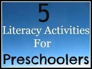 literacy activities for preschool - Google Search