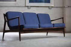 ***ON DECK*** Danish Mid Century Modern Ib Kofod Larsen Sofa of Selig (Denmark, 1960s)