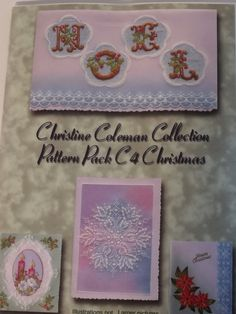 PATTERN PACK C4 BY CHRISTINE COLEMAN    Christmas patterns by Christine Coleman.