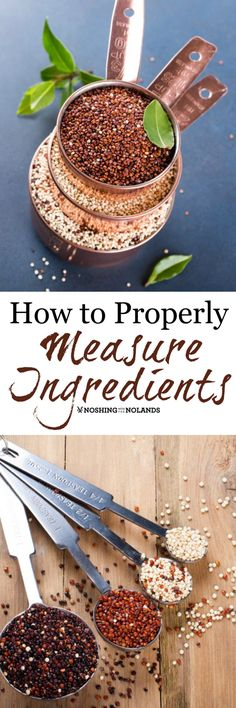 How To Properly Measure Ingredients by Noshing With The Nolands could save you from a recipe disaster and help make sure it comes out perfect every time. Come check out my tips!