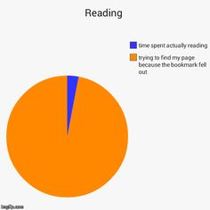 Reading   trying to find my page because the bookmark fell out, time spent actually reading   image tagged in funny,pie charts   made w/ Imgflip pie chart maker