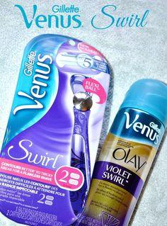 Gillette Venus Swirl Razor and Olay Swirl Shaving Gel. #NewVenusSwirl