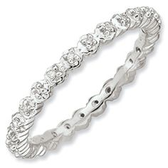 Stackable Expressions™ Diamond Accent Classic Eternity Ring in Sterling Silver