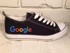Google Black Low Top Canvas Sneaker- Shout shoes