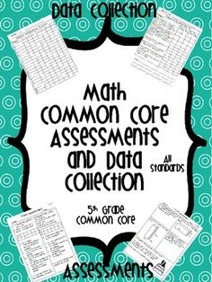 These assessments are perfect for formative assessments. 1 page assessment for EVERY Common Core Standard. This product also includes a student checklist and a class checklist for simple, yet realistic data collection!