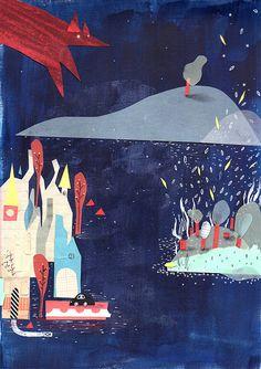 23 / Valeria Reynoso / Noche / from: La vuelta al mes en 30 ilustradores