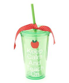Another great find on #zulily! Green Apple 'Keep Calm' Personalized Tumbler by My Red Thread #zulilyfinds