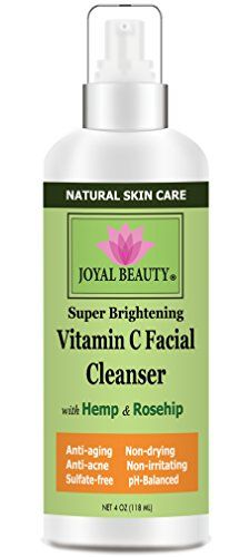 Best Face WashVitamin C Facial Cleanser by Joyal Beauty Natural Organic Gentle Face Cleanser with 15 Vitamin CHemp Oil Rose Hip Aloe Vera Best Acne Face Wash Nondrying SLSfreepHbalanced -- Details can be found by clicking on the image.