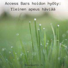 Access Bars hoidon hyöty: Yleinen apeus häviää #AccessBars #AccessConsciousness #hyöty #onnenportti