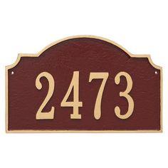 Montague Metal Products Vanderbilt Estate One Line Address Plaque Finish: Antique Copper/Copper