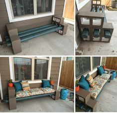 Ideas Apartment Patio Decor Cinder Blocks For 2019 Patio Decor, Diy Patio Furniture, Cinder Block Furniture, Outdoor Decor, Backyard Projects, Diy Backyard, Diy Patio, Apartment Patio, Diy Garden Furniture