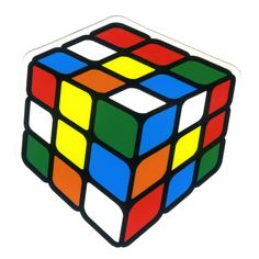 #1206 Rubik's Cube , Width 8 cm, decal sticker - DecalStar.com