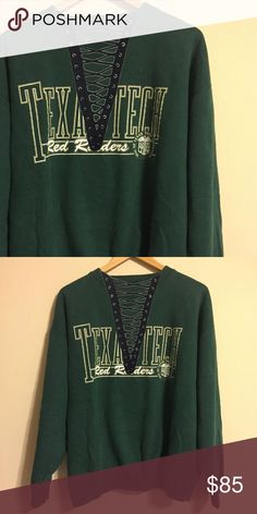 Texas Tech crew neck THIS LISTING IS FOR THE Top WITHOUT THE LACING Brandy Melville Sweaters Crew & Scoop Necks