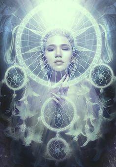 Dream Catchers / Digital Art by Blavatskaya Art Visionnaire, Small Minds, Psy Art, Photo D Art, Mystique, Visionary Art, Dream Catchers, Inner Child, Celestial