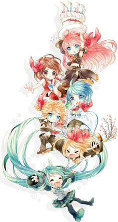 Browse VOCALOID Chibi Miku Rin collected by Christos Demetriou and make your own Anime album. Manga Anime, Anime Chibi, Anime Art, Kaito Vocaloid, Kagamine Rin And Len, Kawaii Chibi, Cute Chibi, Kaai Yuki, Vocaloid Characters