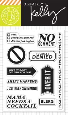 Hero Arts Clear Stamps KELLY'S NO COMMENT Clearly Kelly CL817 $8