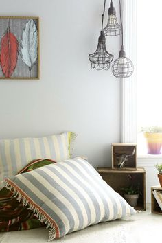 4040 Locust Skinny Stripe Pillow #urbanoutfitters