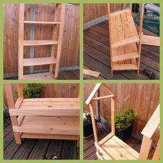 Transformation d'une étagère en pin en marchande - blog Récréatelier