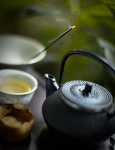 Tea & incense.