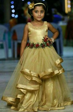 HappyShappy - India's Own Social Commerce Platform Kids Frocks, Frocks For Girls, Little Girl Dresses, Girls Dresses, Flower Girl Dresses, Kids Dress Wear, Kids Gown, Baby Dress, Gowns For Kids