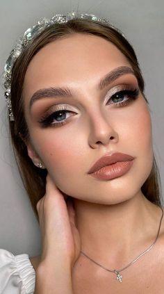 Soft Makeup Looks, Glam Makeup Look, Bridal Makeup Looks, Wedding Makeup Looks, Glamorous Makeup, Natural Glam Makeup, Day Makeup, Natural Beauty, Skin Makeup