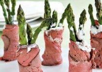 Asparagus Roast Beef Roll-Ups