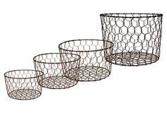 Wire Baskets - Set of 4 on OneKingsLane.com