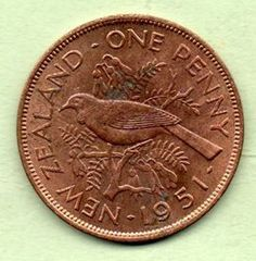 BAB intage New Zealand Maori Half Penny Coin 1965,Unique Baseball Customized Gift