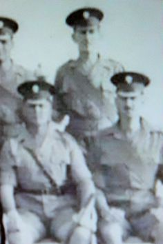 Tom Cornall  with warrant officers, 1st. Battalion Grenadier Guards, 1961