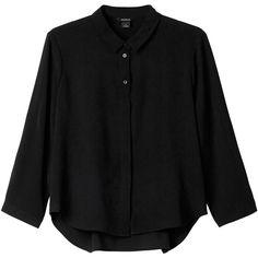 Monki Hella blouse ($34) ❤ liked on Polyvore featuring tops, blouses, shirts, black, black magic, shirts & blouses, shirts & tops, mesh top, black mesh top and monki
