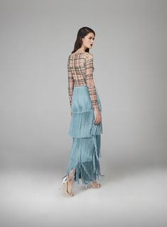 #Bardot #BrigitteBardot #inspired #Frenchicon #gown #juxtaposition #modern #elements #classic #glamour #sleeves #delicate #illusiontulle #fitted #embellished #cool #plaid #pattern #glassbeads #color #embroidered #lines #cinchedwaist #curves #overlapping #blue #satin #tassels #edgy #glamorous #fashion #design #autumnwinter #2018 #eveningwear #hamdaalfahim