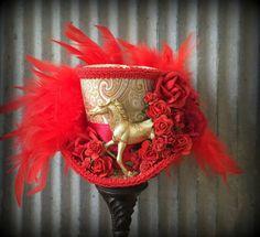 Kentucky Derby Hat Kentucky Derby Horse Race hat Red by ChikiBird