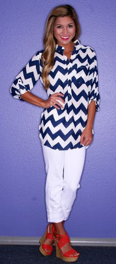 Upscale Stripe in Navy - $36.00