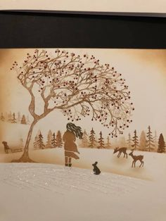 Cardio Cards, Card Io, Christmas Cards, Moose Art, Stamps, Tapestry, October, England, Animals