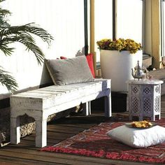 Build a Moroccan style bench seat from recycled timber | Readers Digest | Reader's Digest Australia