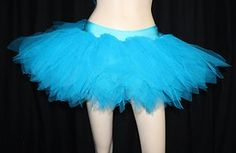 jupe TUTU TULLE bleu turquoise GOTH PUNK DANSE BALLET cyber rave spectacle
