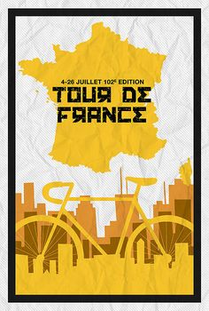 Tour De France 2015 Minimalist Poster