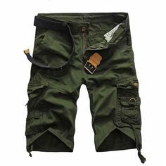 2016 Cargo Shorts Men Hot Sale Casual Camouflage Summer Brand Clothing Fashion Army Work Shorts Men Cotton 8 Color Plus Size Army Shorts, Military Shorts, Work Shorts, Loose Shorts, Casual Shorts, Men Shorts, Casual Clothes, Cropped Pants, Fashion Mode