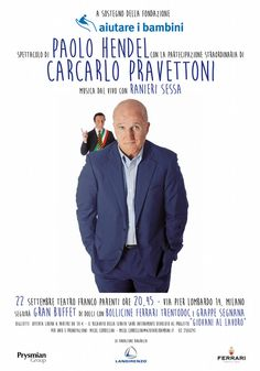 """Carcarlo Pravettoni è tornato. Come suo costume arriva in città e senza tanti scrupoli si insedia direttamente sulla poltrona di sindaco prendendo di petto i problemi del momento con la sua farneticante agenda politica: """"La genda Pravettoni"""". - Stagione teatrale 2014/ 2015"""